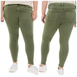 Celebrity Pink Army Green Skinny Ankle Pants Sz 18